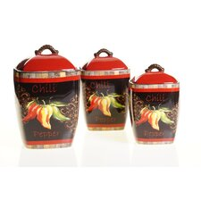 Chili Pepper Canister (Set of 3)