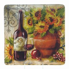 "Tuscan Sunflower by Tre Sorelle 12.5"" Square Platter"