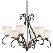 Sherbrooke 6 Light Oval Chandelier