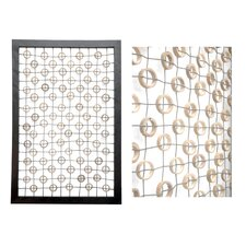 Carlotta Bamboo Circles Deco Wall Panel