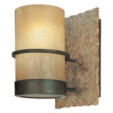 Bamboo 1 Light Bath Wall Sconce