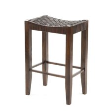 "Saddler 30"" Bar Stool in Walnut Stain"
