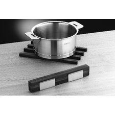 Mono 6 piece Wood Trivet Sticks with Stainless Steel Stand