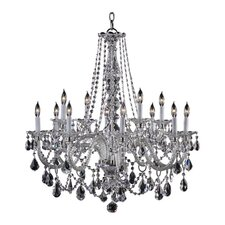 Bohemian Marien 12 Light Chandelier in Chrome