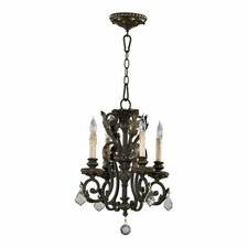 Rio Salado 4 Light Chandelier in Toasted Sienna