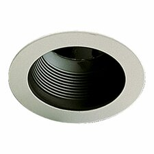 Stepped Baffle Recessed Lighting Trim in Gloss Black