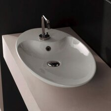 Shape Above Counter Single Hole Bathroom Sink