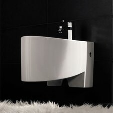 Zefiro Wall Mounted Bidet in White