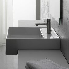 Teorema Semi Recessed Single Hole Bathroom Sink