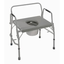 Bariatric Extra-Wide Drop Arm Steel Commode