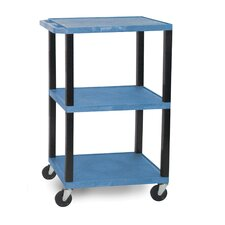 "Tuffy 42"" 3-Shelf Utility AV Cart"
