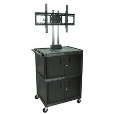 "Tuffy 71"" Mobile Flat Panel Cart with Cabinet  (Fits 32"" - 60"" Screens)"