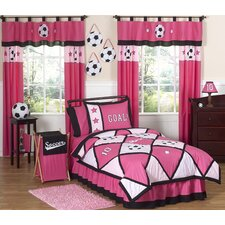 Soccer Pink Kid Bedding Collection