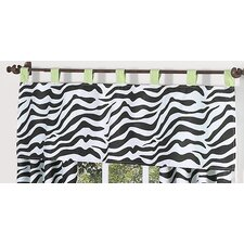 Zebra Cotton Tab Top Tailored Curtain Valance