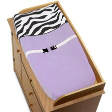 Zebra Purple Collection Changing Pad Cover
