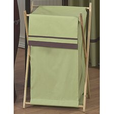 Hotel Green and Brown Laundry Hamper