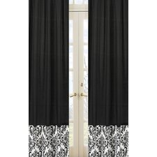 Isabella Hot Pink, Black and White Curtain Panel Pair