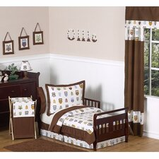 Owl Collection 5pc Toddler Bedding Set