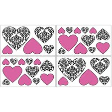 Isabella Hot Pink, Black and White Collection Wall Decal Stickers