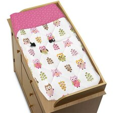 Owl Pink Collection Changing Pad Cover