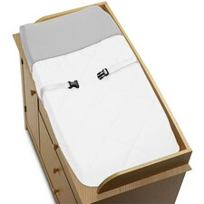 Hotel White and Gray Collection Changing Pad Cover