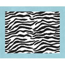 Zebra Turquoise Collection Floor Rug