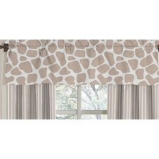 Giraffe Cotton Rod Pocket Tailored Curtain Valance