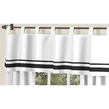 Hotel Cotton Tab Top Tailored Curtain Valance