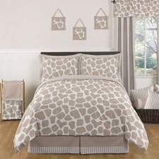 Giraffe Bedding Collection 5 Piece Set