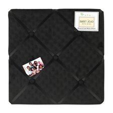 Minky Dot Black Collection Memo Board