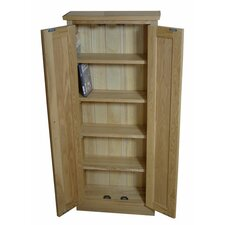 Mobel Oak DVD Storage Cupboard
