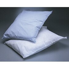 Disposable Tissue Pillowcase in White