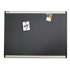 Prestige + Magnetic Fabric Bulletin Board with Aluminum Frame