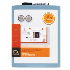 "Magnetic Whiteboard, 8-1/2""x11"", Assorted Plastic Frame"