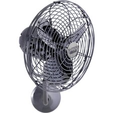 Michelle Parede Outdoor Directional Wall Fan with Metal Blades