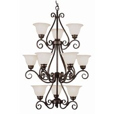 New Century 12 Light Chandelier