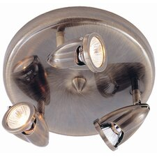 Modern Track Lights 3 Light Semi Flush Mount