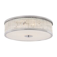 Crystal Sun 4 Light Flush Mount