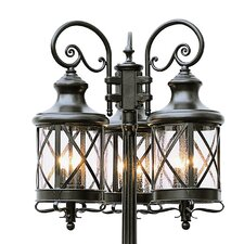 "9 Light 81"" Post Lantern Set"