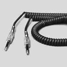 Coiled Black Cable with Metal Ends