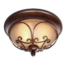 Loretto 2 Lights Flush Mount