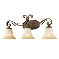 Pemberly Court 3 Light Bath Vanity Light