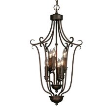 Multi Family Caged Foyer Pendant
