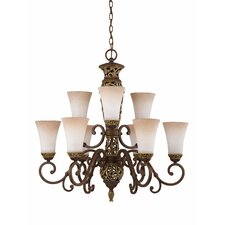 Filigree 9 Light Chandelier