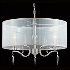 The Swan 4 Light Drum Foyer Pendant