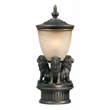 "Lion Exterior 3 Light 29"" Outdoor Post Lantern Set"