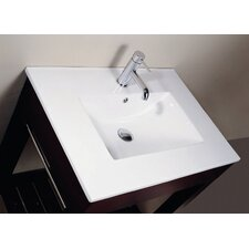"49"" Vitreous China Vanity Top with Rectangular Bowl"