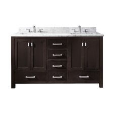 "Modero 61"" Double Bathroom Vanity Set"