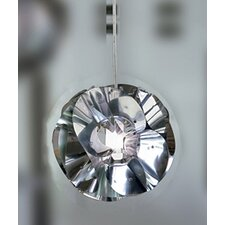 Floral Pendant in Chrome