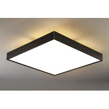 Linea Flush Mount in Black Satin Aluminum
